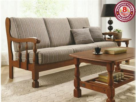sofa wooden wooden sofa set winster 3 1 seater online