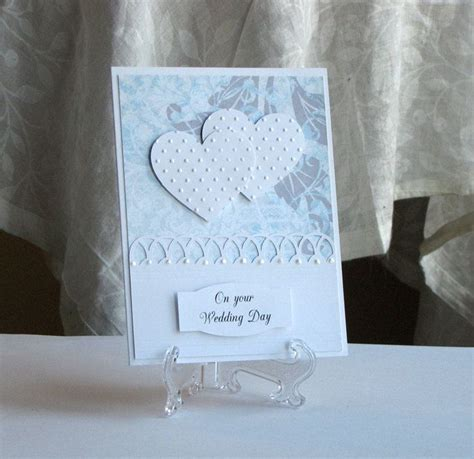 Handmade Wedding Day Cards - wedding card custom blue two hearts