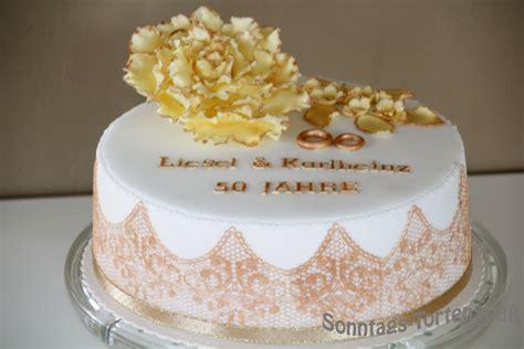 Hochzeitstorte Goldene Hochzeit by Immer Wieder Sonntags Goldene Hochzeit