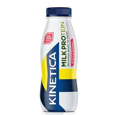 p protein milk ready to drink milkshake strawberry flavour kinetica