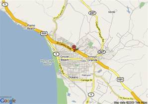 map of inn express grover pismo area