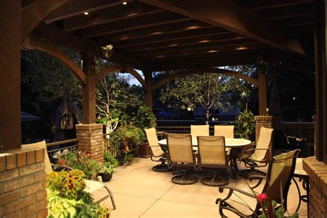 Covered Patio Lighting Patio Pergola And Deck Lighting Ideas And Pictures