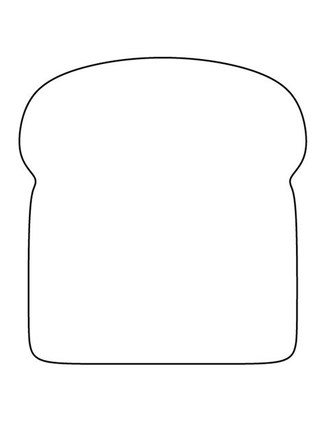 Bread pattern. Use the printable outline for crafts