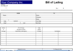 Bill Of Lading Form Template by Bill Of Lading Template Bill Of Lading Form