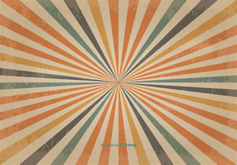 sunburst background retro colored sunburst vector background free