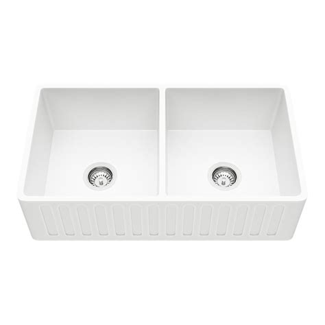 matte farmhouse sink vigo farmhouse reversible matte 33 in bowl