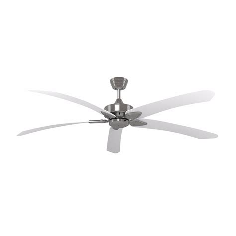 brushed nickel ceiling fan with white blades crestwind brushed nickel 70 inch blade windpoint ceiling