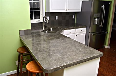 concrete countertop pressed finish for the home