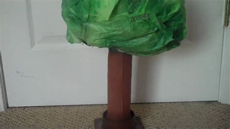 How To Make Model Trees From Paper - save trees project idea