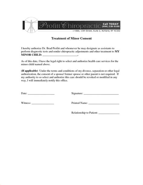 treatment authorization letter for a minor 5 treatment authorization letter procedure