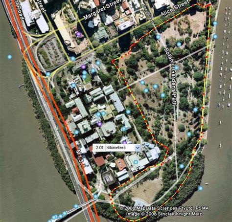 Brisbane Botanical Gardens Running Maps In The World Brisbane Botanic Gardens Map
