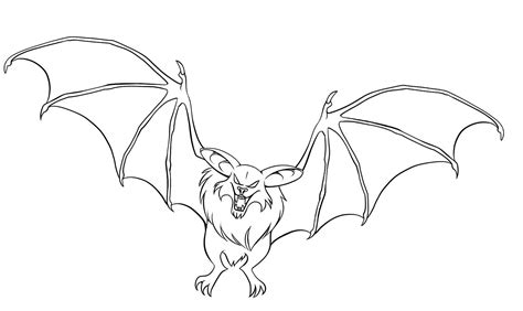 simple bat coloring page free printable bat coloring pages for kids