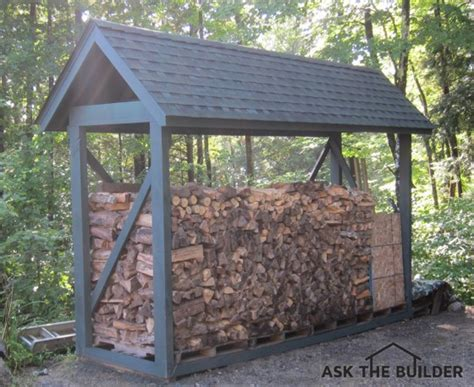build  custom firewood shelter   builder