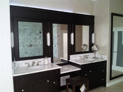 bathroom black wooden bathroom cabinet with table and