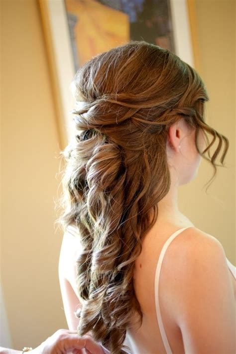 how to do quirky hairstyles romantic half up soft curls bridal hairstyle from cyndie