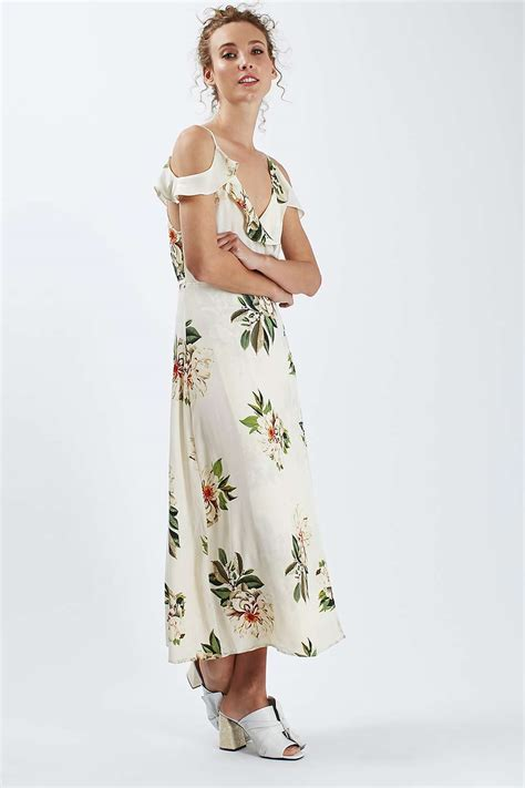 Maxi Vilia Pink floral maxi dress topshop