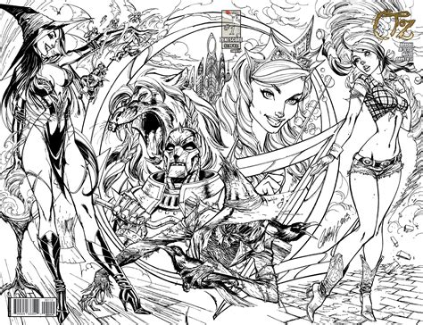 grimm tales coloring book different seasons zenescope outsells marvel in battle of oz debuts