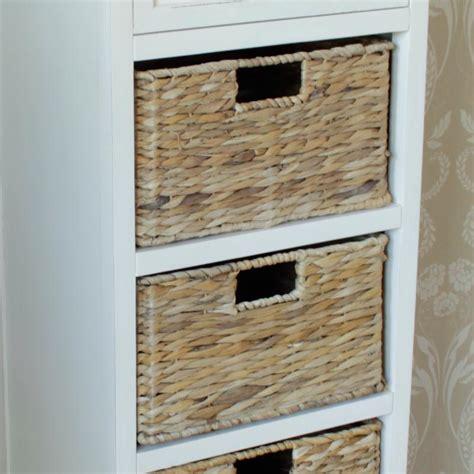 4 Drawer Wicker Storage Unit by Wicker Storage Unit One Drawer Four Baskets