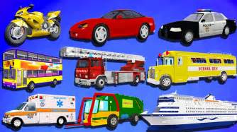 Electric Vehicles Names Learn Transport Vehicles For Children And Learn