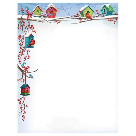 free christmas stationary this holiday paper is perfect christmas birdhouses holiday paper your paper stop