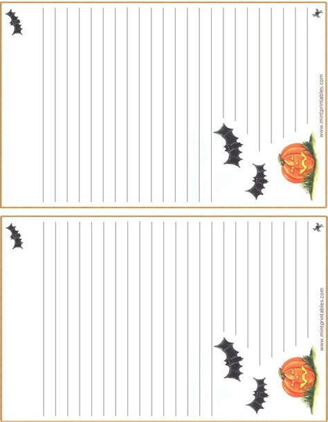 printable bat stationary bats pumpkin halloween stationary free printable