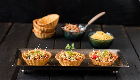 indian canape canape papdi chaat recipe by archana s kitchen