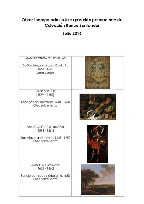 obras coleccin de b00vvj3j66 nuevas obras en la exposici 243 n de colecci 243 n banco santander