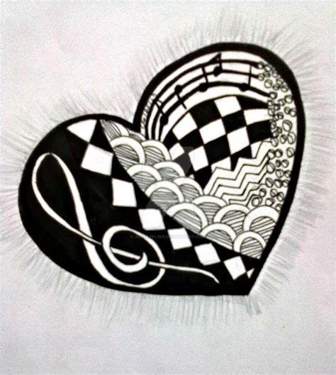 imgs for gt easy music drawing ideas zentangle even your heartbeat is music by justayelbee on