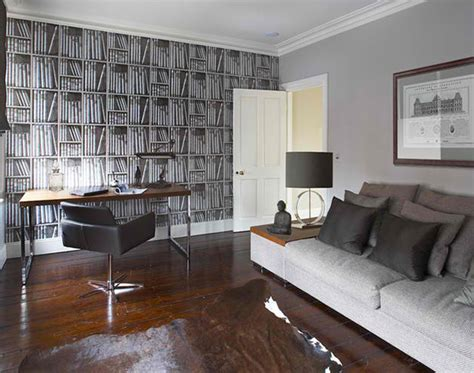 grey wallpaper masculine stunning wallpapers in 20 home office and study spaces
