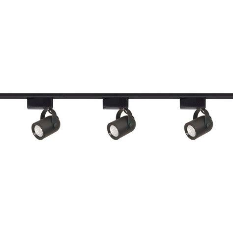 black led track lighting kits kendal lighting rk40 series 4 ft 3 light chrome track