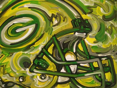 green bay packers painting by justin patten sports by stormstriker 110 00 cool pictures