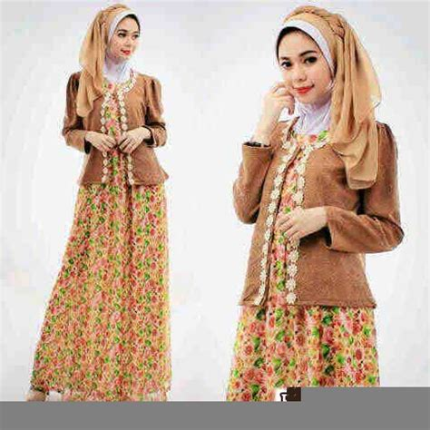 Gamis Cantik Set Blazer baju gamis wanita p1178 kombi blazer gaun muslim cantik