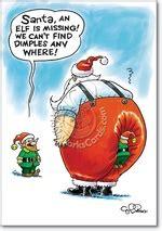 funny missing elf christmas card nobleworkscardscom