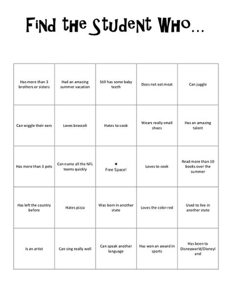 printable games for high school students get to know you worksheets for middle school lesupercoin