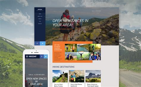 new themes in hike hiking web template