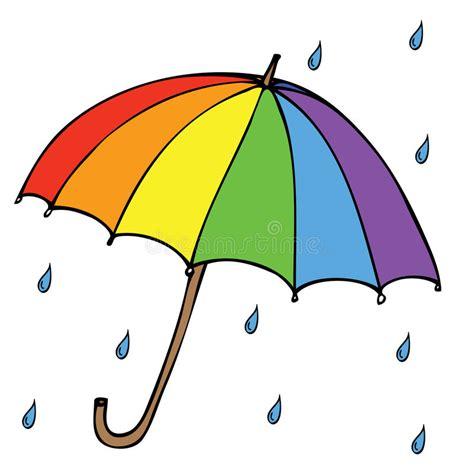 clipart pioggia ombrello con pioggia illustrazione vettoriale immagine