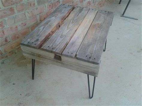 Rustic Coffee Table Legs Pallet Rustic Coffee Table With Hairpin Legs Pallet Furniture Diy