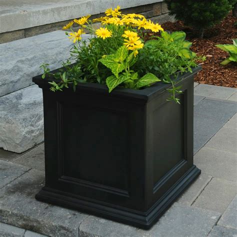Square Outdoor Planters Square Fairfield Patio Planter From Jackson Perkins