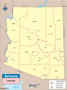 arizona counties and county seats map by maps from