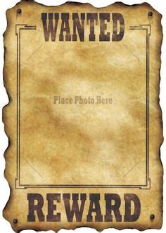 templates for wanted posters old west download free fbi and old west wanted poster templates for