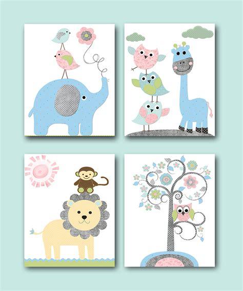 Baby Girl Baby Boy Nursery Decoration Elephant Giraffe Decor Giraffe Baby Decorations Nursery