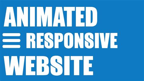 responsive website tutorial youtube animated responsive website tutorial html5 css3 image