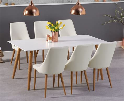 mansfield cm matt white dining table  delivery