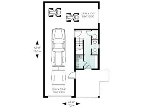 tandem garage plans garage apartment plans carriage house plan with tandem bay design 027g 0003 at