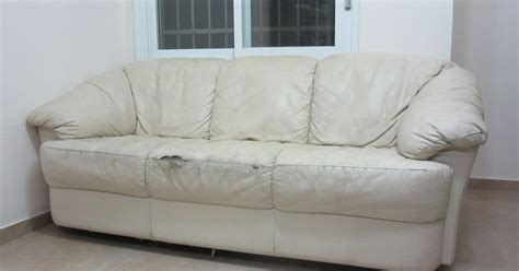 torn sofa reupholstered torn couch hometalk