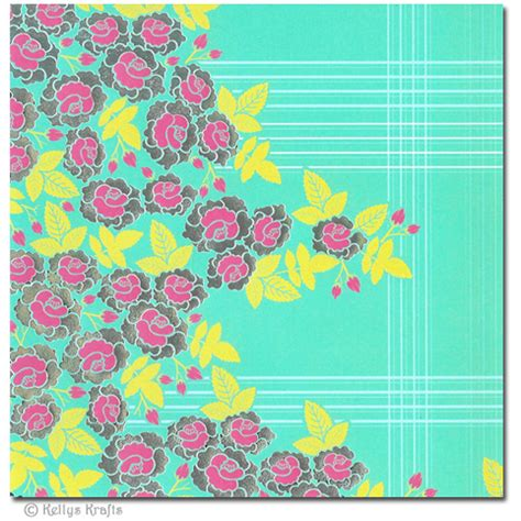 Patterned Craft Paper Uk - 6 x 6 patterned paper floral design 1 sheet 163 0 15