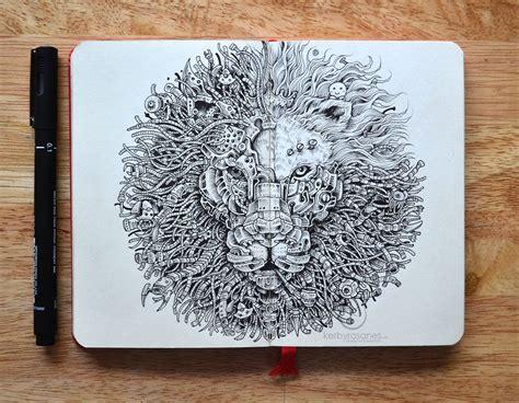 cool pen doodles explosive moleskine doodles by kerby rosanes colossal
