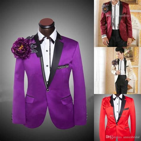 colored tuxedos fashion mens suits purple cheap colored tuxedos for