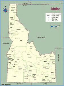 Idaho County Map Outline by Idaho Maps