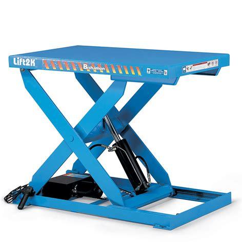hydraulic pallet lift table bishamon optimus hydraulic scissor lift tables stac